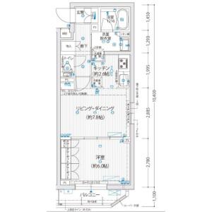 1LDK Mansion in Omorihigashi - Ota-ku Floorplan