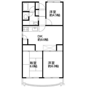 3DK Mansion in Nagatsuta - Yokohama-shi Midori-ku Floorplan