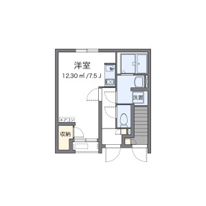 1R Apartment in Nishiochiai - Shinjuku-ku Floorplan