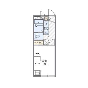 1K Apartment in Suehiro - Kawaguchi-shi Floorplan