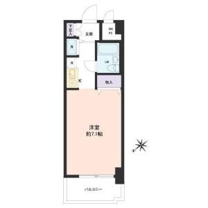 1R Apartment in Chuo - Ota-ku Floorplan