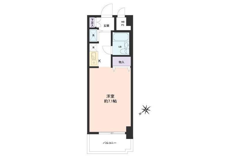 1R Apartment to Buy in Ota-ku Floorplan