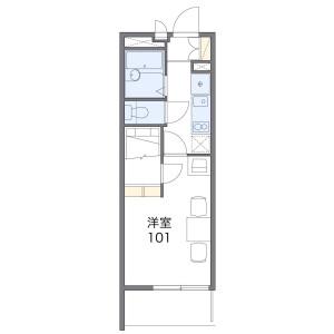 1K Mansion in Matsu - Osaka-shi Nishinari-ku Floorplan