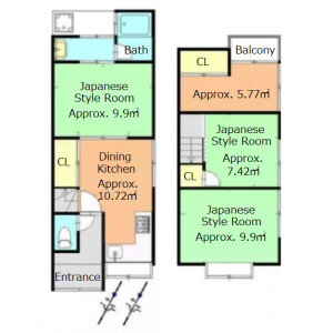 4DK {building type} in Otowa isejukucho - Kyoto-shi Yamashina-ku Floorplan