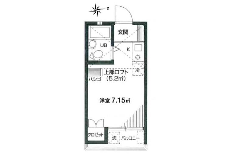 1R Apartment to Rent in Suginami-ku Interior