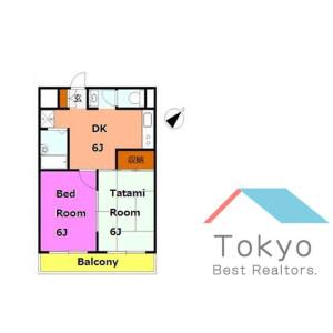2DK Mansion in Kumanocho - Itabashi-ku Floorplan