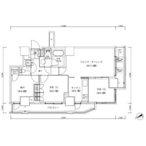 3LDK Mansion in Nishishimbashi - Minato-ku Floorplan