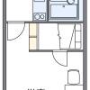 在岐阜市内租赁1K 公寓大厦 的 楼层布局
