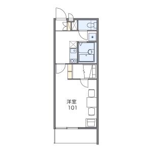 岐阜市茜部野瀬-1K公寓大厦 楼层布局