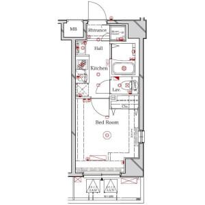 1K Mansion in Katsushima - Shinagawa-ku Floorplan