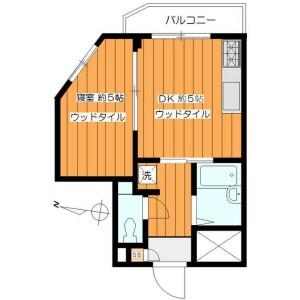 1DK Mansion in Minamiazabu - Minato-ku Floorplan