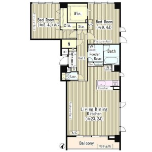 2LDK Mansion in Shoto - Shibuya-ku Floorplan