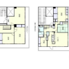 6LDK Apartment to Rent in Osaka-shi Naniwa-ku Floorplan