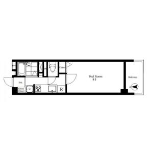 大田区大森西-1K{building type} 楼层布局