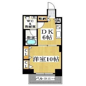 大阪市中央区 島之内 1DK マンション 間取り