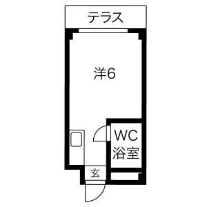 1R Mansion in Senriyama nishi - Suita-shi Floorplan