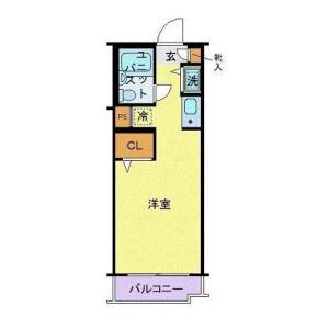 世田谷區下馬-1R公寓大廈 房間格局