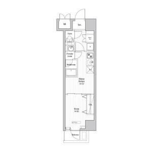1DK Mansion in Kamezawa - Sumida-ku Floorplan