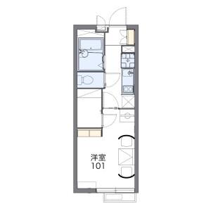 1K Mansion in Nakadai - Itabashi-ku Floorplan