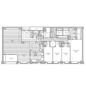 4LDK Apartment in Minamiazabu - Minato-ku Floorplan