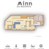1LDK Serviced Apartment to Rent in Osaka-shi Fukushima-ku Floorplan