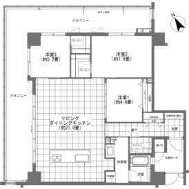 3LDK {building type} in Maeda - Kunigami-gun Onna-son Floorplan