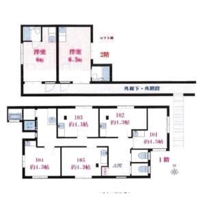 2K Apartment in Kugahara - Ota-ku Floorplan