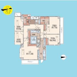 4LDK {building type} in Nakaochiai - Shinjuku-ku Floorplan
