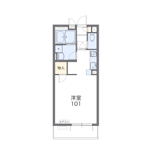 1K Mansion in Yamatomachi - Sendai-shi Wakabayashi-ku Floorplan