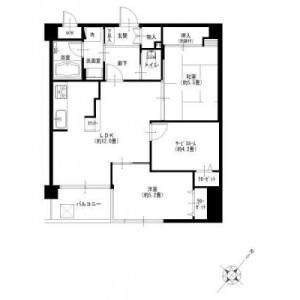2SLDK {building type} in Moegino - Yokohama-shi Aoba-ku Floorplan