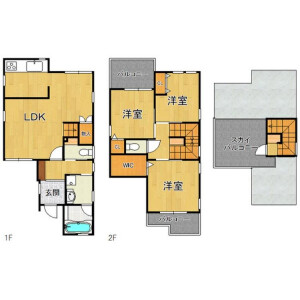 3LDK {building type} in Torishima - Osaka-shi Konohana-ku Floorplan