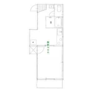 澀谷區鶯谷町-1K公寓大廈 房間格局