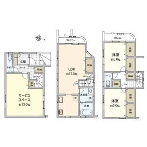 2LDK {building type} in Tamagawadenenchofu - Setagaya-ku Floorplan