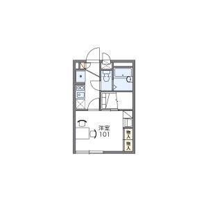 1K Apartment in Nishifucho - Fuchu-shi Floorplan