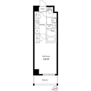 1K Mansion in Shinjuku - Shinjuku-ku Floorplan
