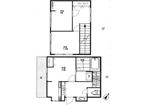 3K House to Rent in Toshima-ku Floorplan