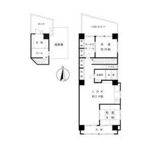 2SLDK Mansion in Mugitacho - Yokohama-shi Naka-ku Floorplan