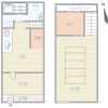 2DK House to Rent in Osaka-shi Minato-ku Floorplan