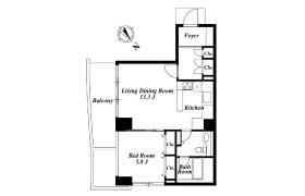 1LDK Apartment in Kitaaoyama - Minato-ku