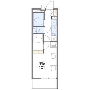 1K Mansion in Nakashima - Osaka-shi Nishiyodogawa-ku Floorplan
