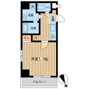 1K Mansion in Toyotamakita - Nerima-ku Floorplan