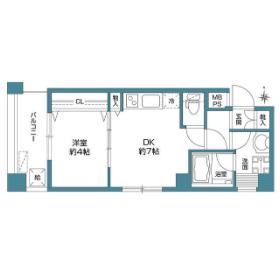 1DK Mansion in Tamagawa - Setagaya-ku Floorplan