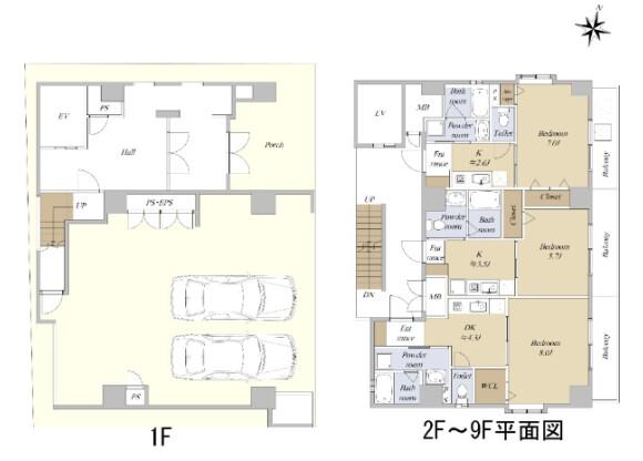 在名古屋市中區購買整棟 公寓大廈的房產 房間格局
