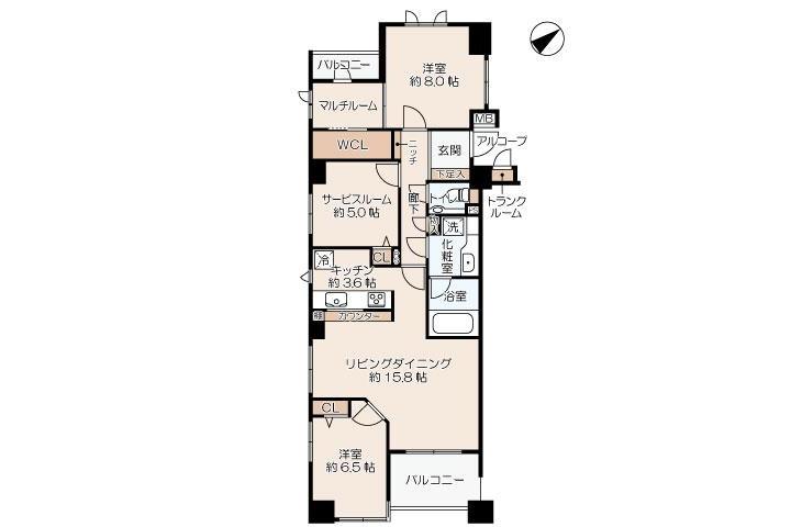 2SLDK Apartment to Rent in Yokohama-shi Kohoku-ku Floorplan