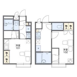 1K Apartment in Shimizucho - Itabashi-ku Floorplan