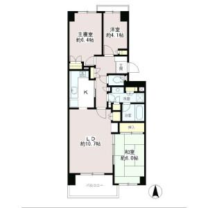 3LDK Apartment in Hiroo - Shibuya-ku Floorplan