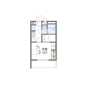 1K Mansion in Samugawacho - Chiba-shi Chuo-ku Floorplan