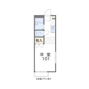 1K Apartment in Koyanagicho - Fuchu-shi Floorplan