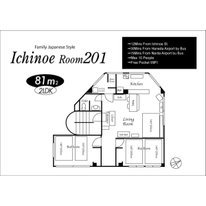 2LDK Mansion in Ichinoe - Edogawa-ku Floorplan