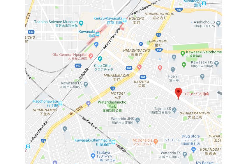 1K マンション 川崎市川崎区 地図